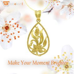 Treasure the moment. Make it joyful. Stay bright with Globekart's Floris Leafy Gold Pendant. Want to purchase it? Go to http://bit.ly/2gF9tdg to get it. For more exclusive collection of gold and diamond jewelleries visit http://bit.ly/2gFdzSP .  Don't miss the opportunity.  #MakeMomentBrighter #GoldPendant #Jewellery #Globekart #BeJewelled #Diamond