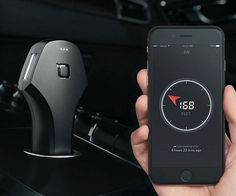 Bring your vehicle into the century by equipping it with this smart car charger and locator. This German-designed device fits discreetly in your car's power socket, features a dual USB port, and is compatible with both Android and iOS devices. Cool Technology, Technology Gadgets, Normal Cars, Smart Car, Cool Gadgets, Car Parking, Car Accessories, Charger, Usb
