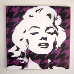 Black and White Marilyn Monroe Stencil | Item Details Reviews (5) Shipping & Policies