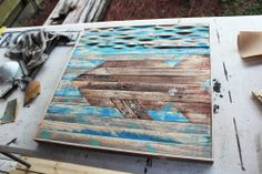 fish wood projects | recycled pallet wood art fishy here is what i did to get this fishy ...