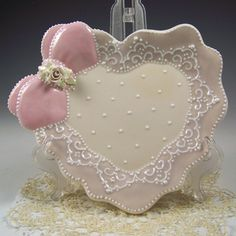 Lace Heart Plate
