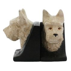 Westie Dog Bookend Pair