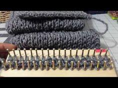 Terminar bufanda (otra forma) - YouTube Loom Knitting Stitches, Spool Knitting, Tunisian Crochet, Crochet Yarn, Writing Fantasy, Crochet Videos, Crochet Clothes, Crochet Projects, Crochet Patterns