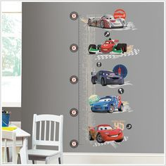 New Disney-Pixars Cars 2 Movie – Wall Decals and Growth Charts for Kids Rooms