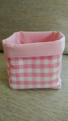 Small Pink Fabric Storage Cube, Storage Cube, Fabric Storage Basket, Storage Container, Girls, Storage, Baby Girl Storage by BitsBobsBunting on Etsy