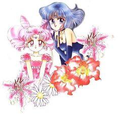 Sailor Chibi Moon & Sailor Saturn-Original Sailor Moon Art Work By Naoko Takeuchi