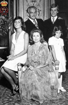The Monaco Princely Family – Portrait by Gianni Bozzacchi, 1974.