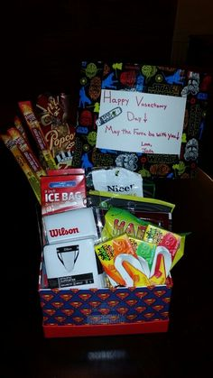 Vasectomy care package for the best husband ever gift ideas happy vasectomy day care package for my husbandl kinds of solutioingenieria Gallery