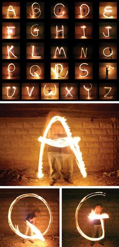 Fire Poi Typography - Letters
