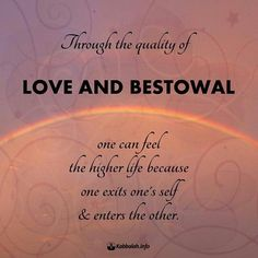 """""""Through the quality of love & bestowal one can feel the higher life because one exits one's self & enters the other"""" Spiritual Awakening, Spiritual Wisdom, Inspirational Words Of Wisdom, Genuine Love, Good Vibes, Destiny, Quotations, Self, Spirituality"""