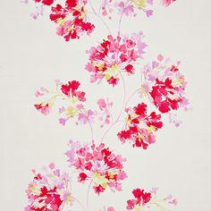 Modern garland floral: Casadeco Guirlandes Agapanthe Wallpaper - SPR24434219 £39 per roll at Amara