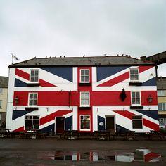 Building painted with the Union Jack British Pub, British Isles, England Uk, London England, Manchester England, Cornwall England, Union Flags, British Things, British Invasion