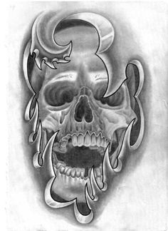 Under Skin Skull Tattoo Idea
