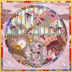 Ex-Libris en Kimonos - ex libris en kimono red blue. Ex Libris, Textile Patterns, Textile Design, Scarf Patterns, Textiles, Turbans, Marlene Hose, Silk Scarves, Hermes Scarves