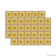 Revestimento Corck HD 43,7x63,1cm amarelo Ceusa - Telhanorte m² R$ 152,90 na Telha Norte em 30/03/15.