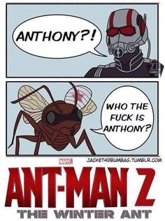 Who the hell is Anthony ? celebrity sweetness sweet woman women cute blue bleu 青い海 青い celeste bookstagram book life lifestyle 可愛い 女 かわいい marvel funny humour drole Marvel Fan, Marvel Dc Comics, Marvel Avengers, Memes Marvel, Dc Memes, Marvel Cosplay, Bucky Barnes, Ant Man 2, The Wicked The Divine