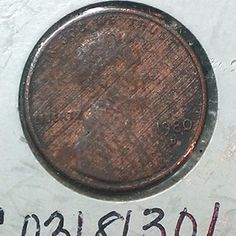 RARE 1980 D Lincoln One Cent Coin Rotated Die Mint Error & Grease Filled Strike Error AU+