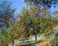 Claude Monet.  Apple Trees on the Chantemesle Hill (1878).