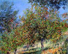 Claude Monet.  Apple Trees on the Chantemesle Hill (1878).