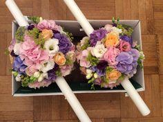 Aranjamente florale - lumanari nunta