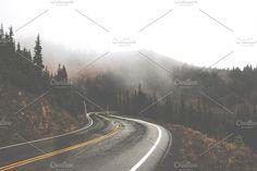 Rainy Mountain Road Fade. Nature Photos