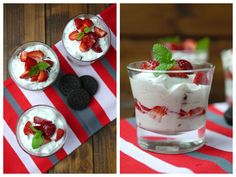 Erdbeeren, Oreo, Erdbeer-Oreo-Dessert, Mascarpone, Dessert, Nachtisch
