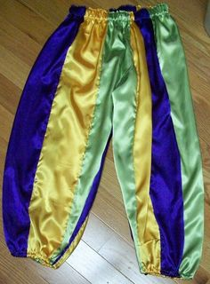 Mardi Gras Knicker length pants Lime yellow and by SewCalledLife
