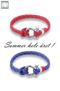 Flotte armbånd for deg som trives på sjøen, laget med ekte seiltau i forskjellige farger og skrusjakkel i rustfritt stål. Nå er det sommer hele året! Bracelets, Jewelry, Jewlery, Jewerly, Schmuck, Jewels, Jewelery, Bracelet, Fine Jewelry