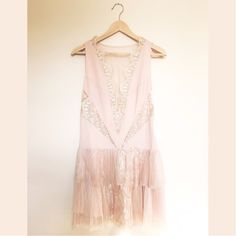 Free People Dove Dress Gorgeous Free People Nude Lace Dress. Brand New!  ✨Price negotiable. Free People Dresses
