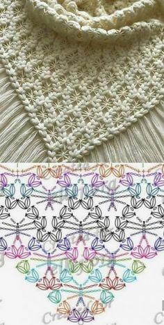 up-to-date Totally Free Crochet poncho dress Suggestions Der Neuen : Chinese Japanse linten – The Collection 1 – Modnoe Vyazanie Crochet Diagram, Crochet Chart, Crochet Motif, Crochet Flowers, Free Crochet, Knit Crochet, Crochet Doilies, Crochet Tops, Poncho Au Crochet
