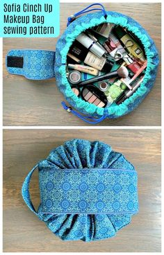 Schnittmuster z. Sofia Cinch Up Makeup Bag Schnittmuster z. - Schnittmuster z. Sofia Cinch Up Makeup Bag Schnittmuster z. Sofia Cinch Up Makeup Bag - Bag Sewing Pattern, Makeup Bag Pattern, Easy Sewing Patterns, Bag Patterns To Sew, Sewing Makeup Bag, Sew Pattern, Bags Sewing, Box Patterns, Wallet Pattern