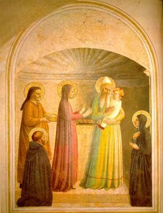 Fra Angelico Presentation in the Temple (left) 1425-30 Fresco 158 x 136 cm Cell 10, Convent of San Marco, Florence