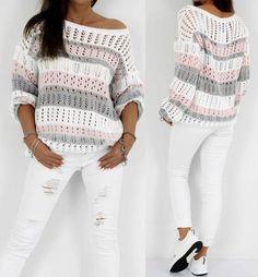 Häkeln Sie Bluse kostenlose Muster - Stricken ist so einfach wie 3 Das St. Crochet blouse free pattern - knitting is as easy as 3 knitting comes down to three essential skills. Blouse Au Crochet, Crochet Shirt, Crochet Cardigan, Crochet Sweaters, Poncho Scarf, Poncho Outfit, Crochet Beach Dress, Shawl Cardigan, Pull Crochet