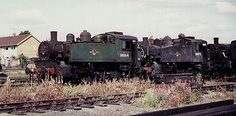 30064 lying withdrawn in Salisbury shed yard, together with classmate 30072, in August 1967