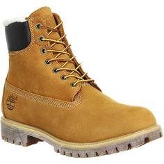 Timberland Premium 6 Inch Warm Lined Boots (200 CAD) ❤ liked on Polyvore featuring men's fashion, men's shoes, men's boots, men's work boots, boots, men, shoes and wheat nubuck