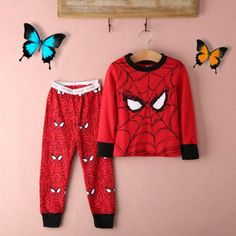 Boys' Clothing (Sizes 4 & Up) Kids Baby Boy Girl T-Shirt Top+Pants Pajamas Set Sleepwear Outfit Clothing Little Boy Fashion, Kids Fashion Boy, Disney Outfits, Boy Outfits, Pyjamas, Pjs, Ropa Interior Babydoll, Spiderman Costume, Cute Summer Dresses