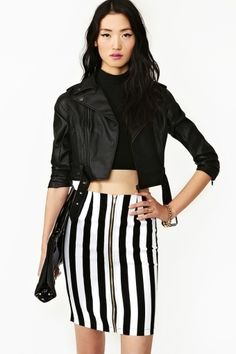 Parallel Lines Skirt   $38.00