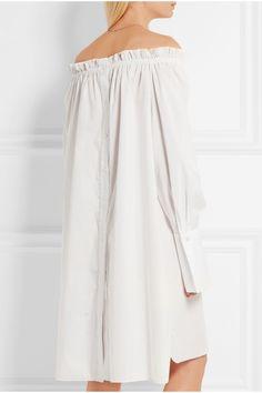 Three Graces London | Daphne off-the-shoulder cotton-poplin nightdress | NET-A-PORTER.COM