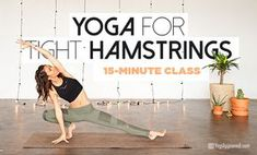 Gain Flexibility for Tight Hamstrings with This Yoga Flow (Free Class) Tight hamstrings are very common for many of us and can result in lower back pain and tight hips. Gain hamstring flexibility with this yoga flow. Vinyasa Yoga, Ashtanga Yoga Sequence, Yoga Sequences, Yoga Poses, Kundalini Yoga, Pranayama, Tight Hamstrings, Tight Hips, Hamstring Yoga