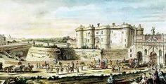 The Bastille and Port St.Antoine in 1715-19