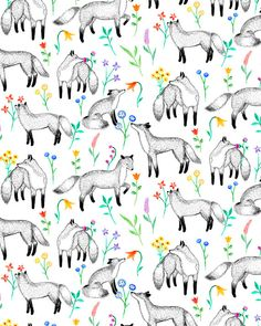 Fox Print Fat Quarter