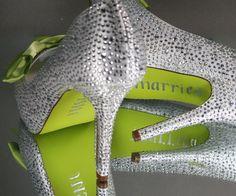 designer wedding shoes green - Google Search