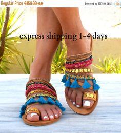 20% OFF DESIREE sandals/ Boho Hippie Sandals/ Handmade Greek