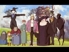 Living Lines Library: ハウルの動く城 / Howl's Moving Castle - Character Design Hayao Miyazaki, Howl's Moving Castle, Alphonse Mucha, Plantas Versus Zombies, Film Animation Japonais, Howl And Sophie, The Cat Returns, Film Anime, Ghibli Movies