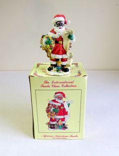 The International Santa Claus Collection African American Santa USA, SC26, 1997