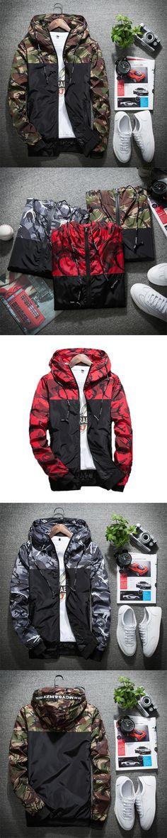 Autumn New Men Jacket 2017 Brand Casual Fashion Camouflage Mens Jackets Coats Thin Windproof jacket Men Hooded Outwear M-XXXL
