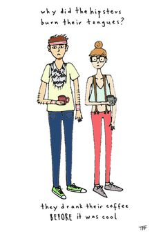 Hipsters Print - Hand-Illustrated