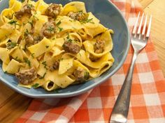 Get Sunny Anderson's Sunny's 5-Ingredient Spicy Sausage Carbonara Recipe from Food Network