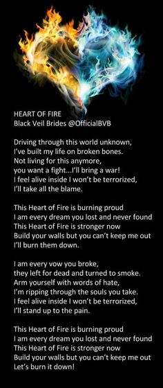 BVB Heart of Fire. one of my favorite songs by them