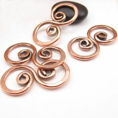RESERVED Pure Copper Wire Links Wirework by OzmayDesigns on Etsy